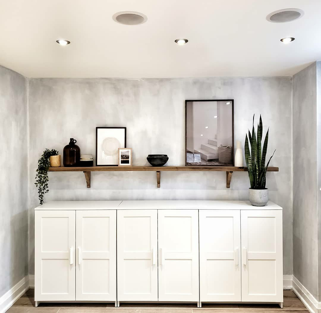 How to create a faux cement wall