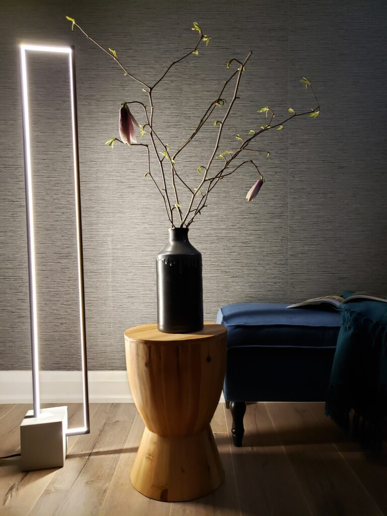 LED Floor Lamp with Concrete Base